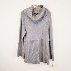 Style & Co Cowl Neck Gray Sweater 2X New
